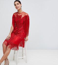 Платье миди с кисточками и пайетками A Star Is Born - Красный