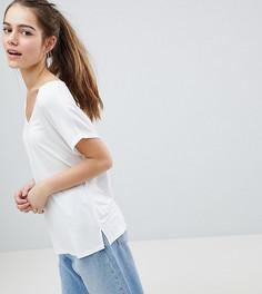 Белая футболка с рукавами летучая мышь ASOS DESIGN Petite - Белый