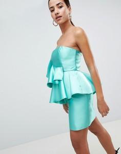 Коктейльное платье мини с оборкой ASOS DESIGN - Мульти
