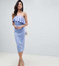 Платье-футляр с укороченным лифом-бандо ASOS DESIGN Tall - Фиолетовый