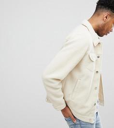 Светло-бежевая флисовая куртка в стиле вестерн ASOS TALL - Бежевый