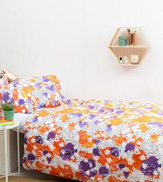 Комплект из одеяла и подушки с цветочным принтом Hashtag - Мульти