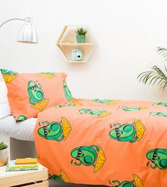 Комплект из одеяла и подушки с принтом Hashtag - Мульти