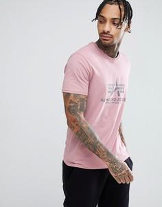 Розовая футболка с логотипом Alpha Industries - Розовый