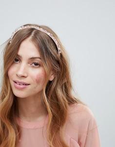 Обруч для волос ASOS DESIGN - Розовый