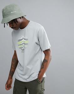 Серая меланжевая футболка с логотипом Columbia Mountain Sunset - Серый