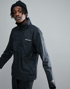 Черная водонепроницаемая куртка с убирающимся в ворот капюшоном Columbia Inner Limits - Черный