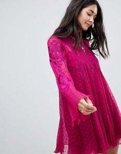 Прозрачное платье мини Free People Cocquet - Красный