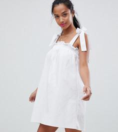 Сарафан с завязывающимися бретельками Fashion Union Petite - Белый