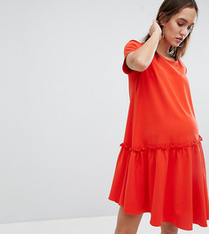 Свободное платье с асимметричным подолом Glamorous - Оранжевый