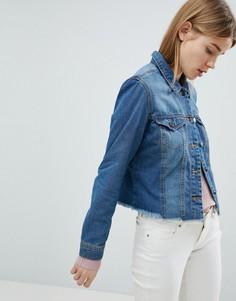 Джинсовая куртка с состаренным краем JDY - Синий