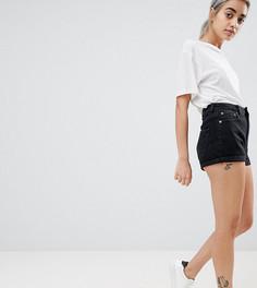 Черные выбеленные шорты в винтажном стиле ASOS DESIGN Petite - Черный