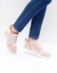 Декорированные атласные кроссовки ALDO - Розовый