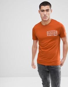 Футболка с принтом Only & Sons - Оранжевый