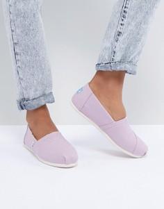 Сиреневые парусиновые туфли TOMS Alpargata - Фиолетовый