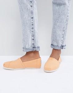 Парусиновые туфли персикового цвета TOMS Alpargata - Розовый