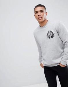 Серый свитшот с вышивкой в виде джунглей и тигра Versace Jeans - Серый