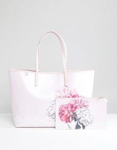 Большая парусиновая сумка-шоппер с цветочным принтом Ted Baker - Мульти