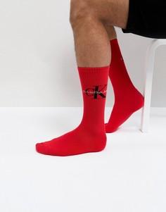 Носки с логотипом Calvin Klein - Красный