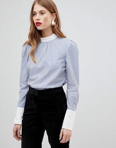 Блузка в контрастную полоску Y.A.S - Синий