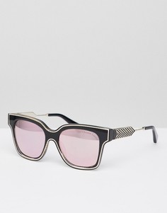 Солнцезащитные очки в черной квадратной оправе с линзами цвета розового золота Christian Lacroix - Черный