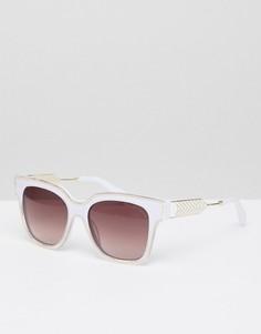 Солнцезащитные очки в квадратной кремовой оправе Christian Lacroix - Белый