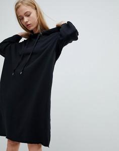 Трикотажное платье с капюшоном Dr Denim - Черный