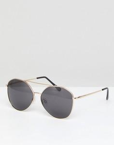 Солнцезащитные очки-авиаторы Selected Femme - Золотой