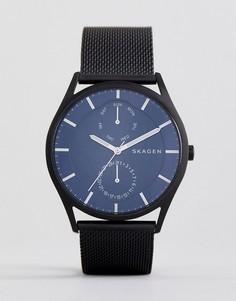 Черные часы 40 мм с сетчатым ремешком Skagen SKW6450 - Черный