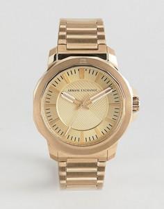 Золотистые часы с хронографом Armani Exchange AX1901 44 мм - Золотой
