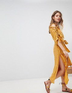 Летнее платье макси Sundress - Желтый