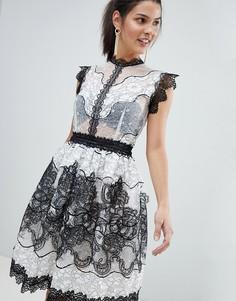 Кружевное платье мини Bronx and Banco - Черный