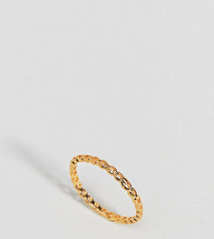 Позолоченное серебряное кольцо-цепочка в винтажном стиле ASOS - Золотой