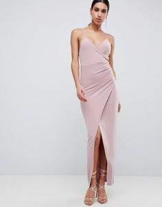 Платье макси с драпировкой ASOS DESIGN - Мульти