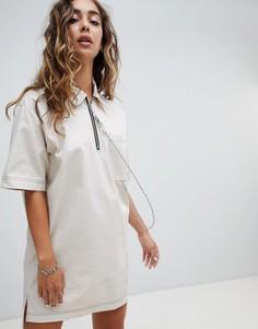Платье-футболка с шариковой цепочкой The Ragged Priest - Белый
