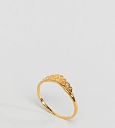 Позолоченное серебряное кольцо с филигранной отделкой ASOS DESIGN - Золотой