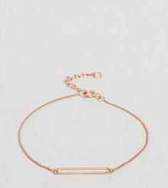 Покрытый розовым золотом серебряный браслет с подвеской ASOS DESIGN - Медный