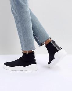 Черные кроссовки Bronx - Желтый