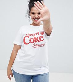 Белая футболка с принтом Cherry Coke ASOS DESIGN Curve - Белый