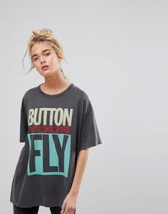 Футболка с графическим принтом и надписью Button Your Fly Levis - Темно-синий Levis®