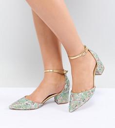 Декорированные туфли на каблуке для широкой стопы ASOS DESIGN - Мульти