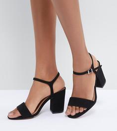 Босоножки на каблуке для широкой стопы ASOS DESIGN Winter - Черный