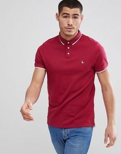 Поло красного цвета с контрастной отделкой Jack Wills Edgware - Красный