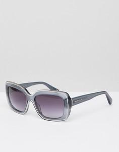 Солнцезащитные очки в квадратной серой оправе Christian Lacroix - Золотой