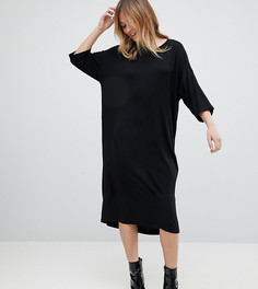 Трикотажное платье миди Monki - Черный
