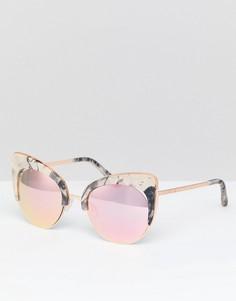 Солнцезащитные очки кошачий глаз с мраморным эффектом River Island - Мульти
