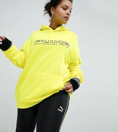 Желтый свитшот с логотипом Puma эксклюзивно для ASOS Plus - Желтый