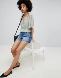 Джинсовые шорты в винтажном стиле Miss Selfridge - Синий