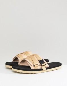 Светло-бежевые сандалии с ремешками ASOS - Светло-бежевый