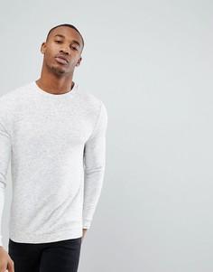 Белый меланжевый облегающий свитшот ASOS - Белый